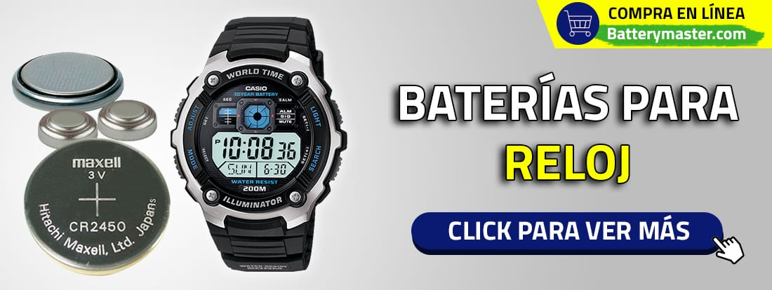 Baterías para reloj