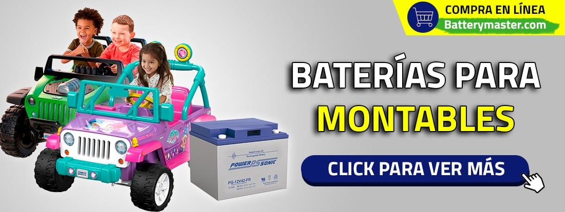 Baterías para montables